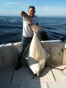 Amazing halibut fishing in Tofino, BC.